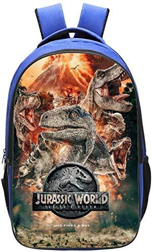 Zaino per bambini scuola 3D Anime Jurassic World Dinosaur stampato Bookbags adatto per bambini 6-12 anni -42 * 29 * 16 cm, 6 (Nero) - DUKBP-0724-4