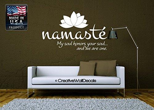 CreativeWallDecals Wall Decal Vinyl Sticker Decals Art Decor Design Namaste Buddha Yoga Om Kharma Chakras Style Dorm Office Bedroom (r817)