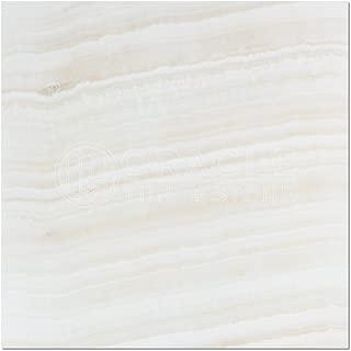 White Onyx (Bianco Fantastico) 18 X 18 Field Tile, Vein-Cut, Polished (Small Sample)