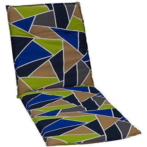 beo Chaises col roulé Coussin avec Bordure pour Chaise Longue à roulettes Design Graphique Multicolore Env. 190 x 58 x 6 cm