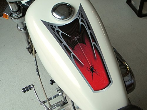 East Coast Vinyl Werkz - Black Widow - Fuel Tank & Fender Decals for Harley Davidson Sportsters & Other Motorcycles