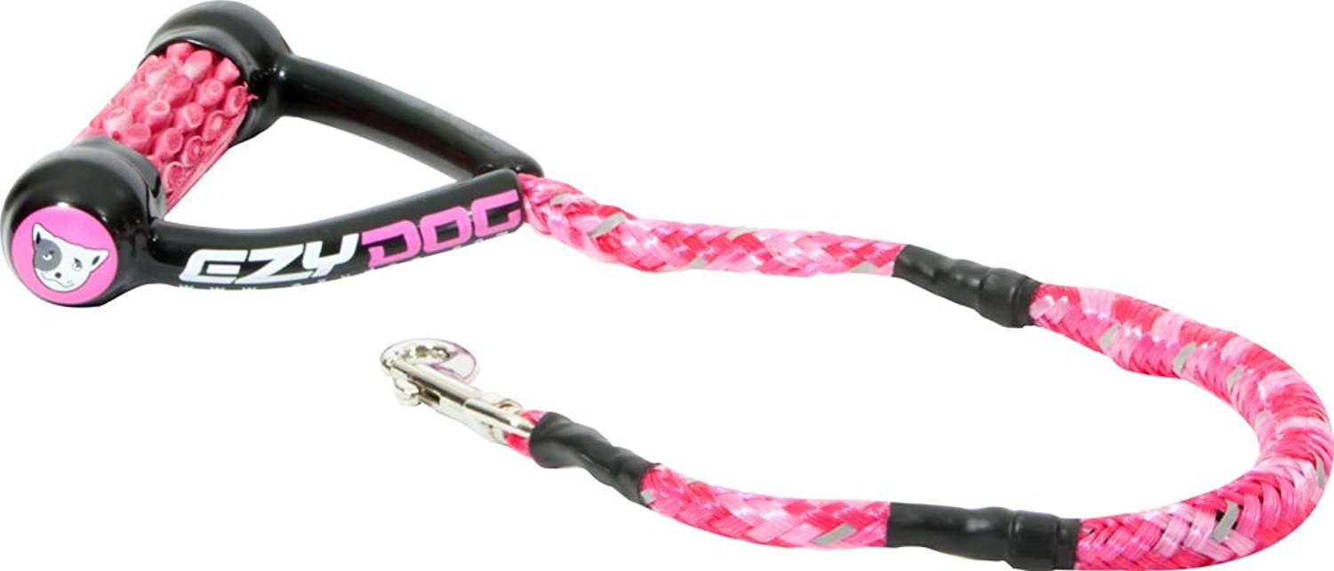 EzyDog Cujo Shock Absorbing Bungee Dog Leash  Best Dog Rope Training Lead  Reflective Trim for Nighttime Safety  Padded Pull Handle for Superior Comfort and Control (25 , Pink Camo)