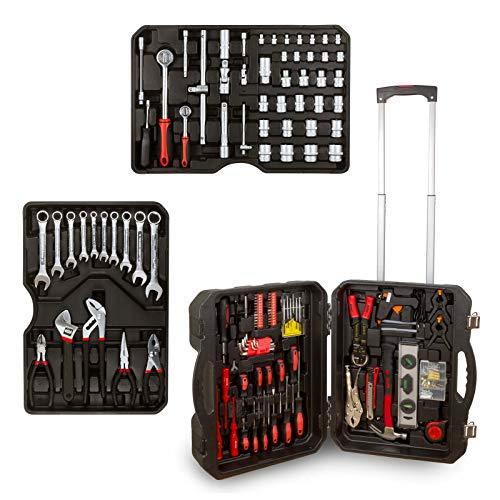 hanSe® Werkzeugkoffer Blowcase Xxl Werkzeugtrolley gefüllt 1062 Teile Werkzeugkasten Werkzeugkiste Heimwerker Werkzeugset