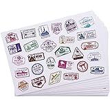Bright Creations - Adesivi da viaggio, timbri decorativi, adesivi sigillanti in 4 disegni - 810 Conteggio - PVC bianco