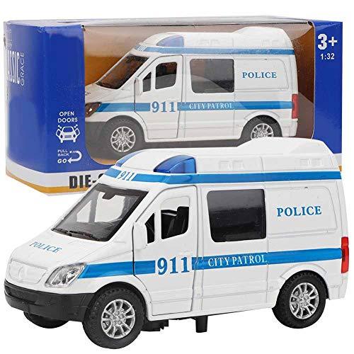 Tnfeeon 1:32 Coche de Ambulancia, Modelo de simulación de Juguete de Coche de aleación Mini con Sonido y luz Regalo Educativo para niños Mayores de 3 años(Azul)