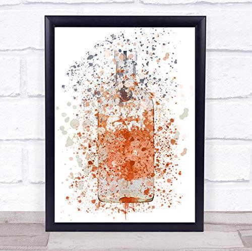 Absoluut perzik wodka fles muur kunst ingelijst Print Medium A4