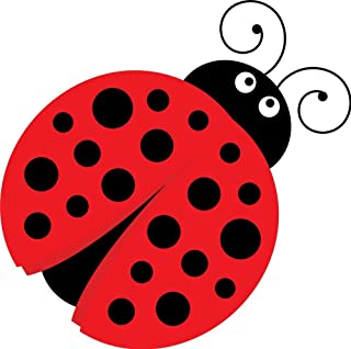 Ladybug Red Black Polka Dots Edible Icing Image Cake Topper (6 Inch Round)