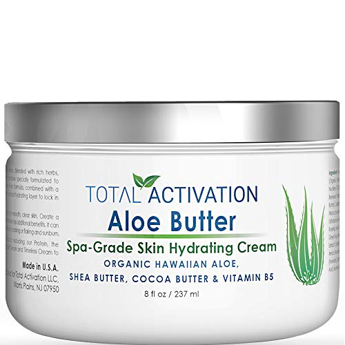 Total Activation Hawaiian Aloe Vera Butter, Fairness Face & Body Moisturizer Skin Cream, Organic & Natural