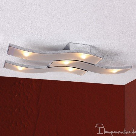 Bopp Leuchten - LED-Deckenleuchte Onda - Aluminium, mit LED (2700K)
