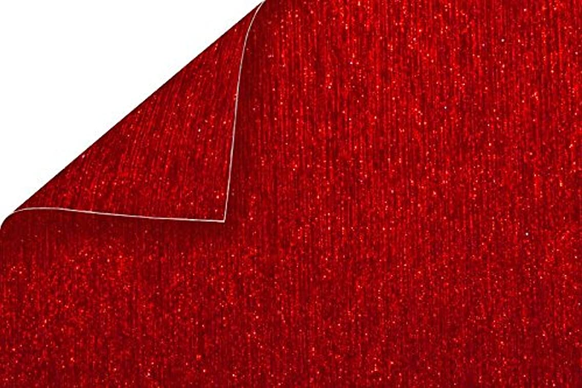 Best Creation BDS05 Double-Sided Brushed Metal Cardstock Paper Red 15 Piece