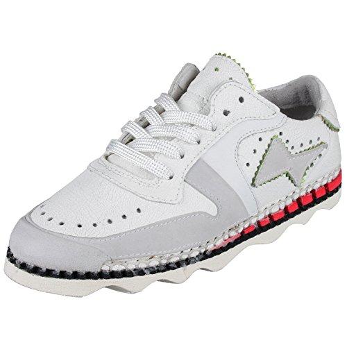 A.S.98 Sneaker - leicht, sommerlich - in weiß as-970112-0104
