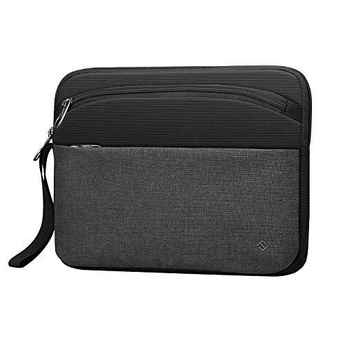FINPAC 11 Zoll Tablette Tasche Sleeve Schutzhülle Tragetasche für iPad Pro 11, iPad 10.2 2019, iPad Air 3 10.5, iPad Pro 10.5, iPad 9.7, Surface Go 10, Galaxy Tab 10.1 Aktenkoffer Hülle, Schwarz/Grau