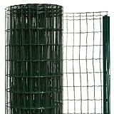 簡単金網フェンス・改良型 1500 ネット+支柱セット 【高さ:1.5m・長さ:20m・防錆処理+PVC加工】
