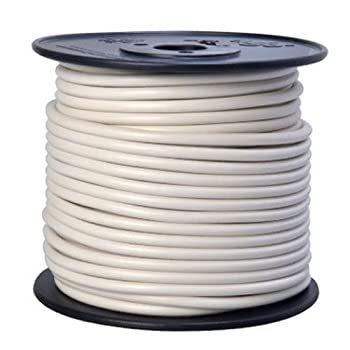 Southwire 55671923 Primary Wire 10-Gauge Bulk Spool 100-Feet White