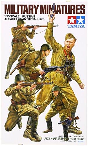 The Hobby Company Tamiya 300035311 - Modellini di Truppe Russe della Seconda Guerra Mondiale, Scala 1:35, 5 pz