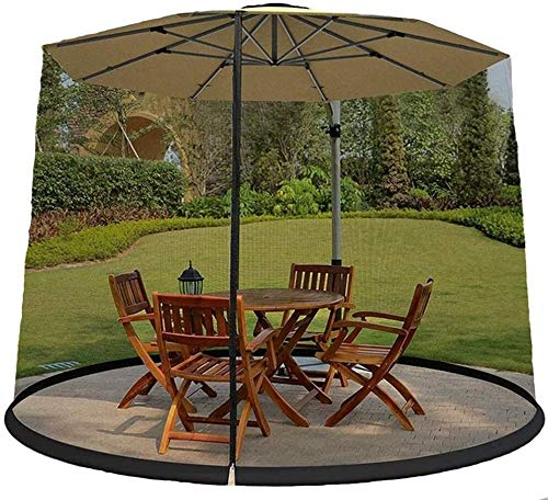 LYYJIAJU Outdoor Mosquito Net Tent Mosquito Nets Cover Insect Net Cover Outdoor Garden Umbrella Table Screen Sunshade Mosquito Net