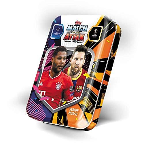 Topps Match Attax 2020/2021 - Lata de coleccionistas Gnarby & Messi