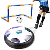 amzdeal Air Football Kit Juguete Balón de Fútbol(1 x Air Hover Ball+1 Mini Soccer +1 Goal de Fútbol +1 Aguja de Gas) Aire Fútbol