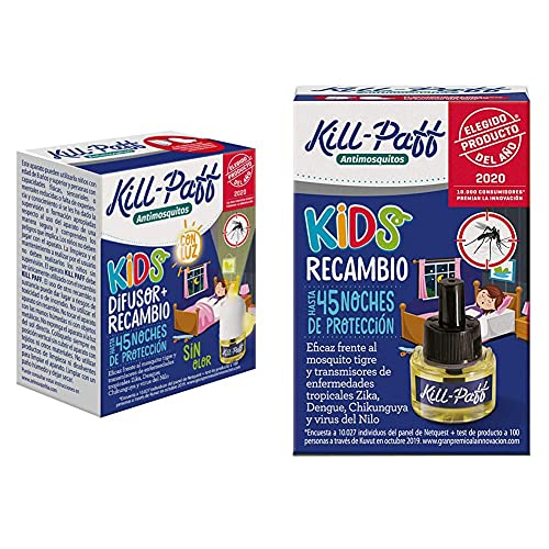 KILL-PAFF KIDS  Insecticida Eléctrico  Antimosquitos  Eficaz Contra Mosquito + Kill Paff Kids ...