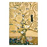 Bilderwelten Glasbild Wandbild Gustav Klimt - Der Lebensbaum 90 cm x 60 cm
