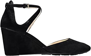 Women's Lacey Wedge Ankle Strap 75mm Pump