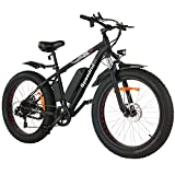 Speedrid Electric Snow Bike Fat Tire Electric Bike 26' 4.0, 500W Powerful Motor, 48V 10Ah Removable Battery and Professional 7 Speed
