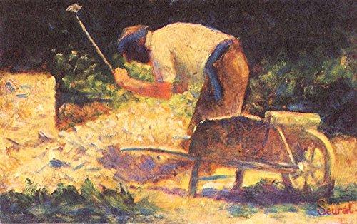 Het Museum Outlet - Onkruid kloppen met kruiwagen door Seurat - Poster Print Online kopen (30 X 40 Inch)