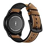 Aottom Compatible con Correa Galaxy Watch 46mm, Cuero Correas Samsung Gear S3 Frontier Banda 22mm Smartwatch Pulseras Repuesto Deporte Strap para Huawei Watch GT2/Amazfit GTR 47mm/Galaxy Watch 3 45mm