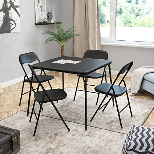 Flash Furniture Black Folding Card Table