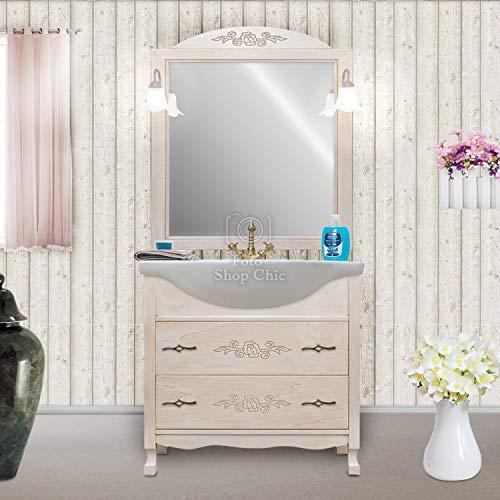 Shop Chic Arredo Bagno 85 Classico Mobile Bagno decapato Specchio Intagliato