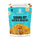 Lakanto Sugar Free Banana Nut Muffin and Bread Mix - Sweetened with Monkfruit Sweetener, 2g Net Carbs, Gluten Free, Naturally Flavored, Keto Diet Friendly, Dairy Free (12 Muffins)