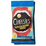 Snack de Queso Crujiente Cheesies, queso de cabra. Sin Carbohidratos, Alto en Protínas, Sin Gluten, Vegetariano, Ceto. queso de cabra 9 Bolsas de 90g.
