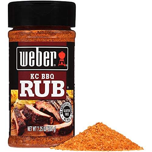 Weber KC BBQ Rub, 7.25 Ounce (Pack of 6)