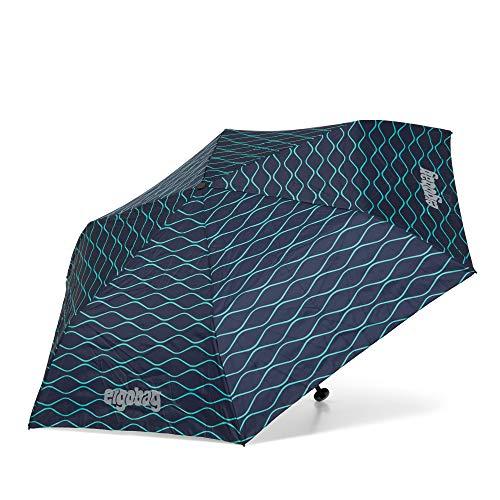 ergobag Regenschirm Schultaschenschirm für Kinder, extra leicht mit Tasche, Ø90cm - BlubbBär, Blau