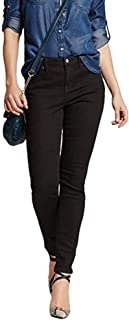 Mossimo Women's Black Skinny Jeans, Mid Rise Curvy Fit - Size 12