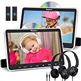 NAVISKAUTO 10.1' Dual Car DVD Players for Kids with HDMI Input 2 Headphones Mounting Brackets, Support Same/Different DVD Playing, Last Memory, Region Free, USB/SD Card (2 Headrest DVD Players)
