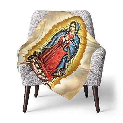 Virgen María Nuestra Señora de Guadalupe Mantas de bebé, súper suaves, manta doble, esenciales para bebé, 76,2 x 101,2 cm