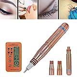 Maquinas de Micropigmentacion y Tatuajes, Tatuajes de cejas Máquina de la pluma permanente del tatuaje del maquillaje del lápiz ojos labio y ceja con 2 agujas, versión mejorada