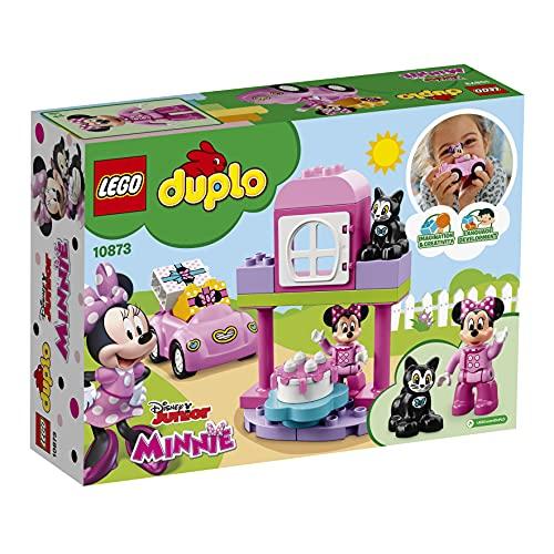 LEGO DUPLODisney LaFestadiCompleannodiMinnie, Set con Gatto e Topo, Automobilina e Torta, Grandi Mattoncini Numerati, Giocattoli Educativi per Bambini di Età Prescolare2-5 Anni, 10873