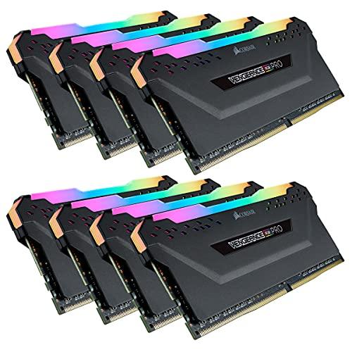 CORSAIR Vengeance RGB PRO 256GB (8x32GB) DDR4 3200 (PC4-25600) C16 Desktop Memory–Black