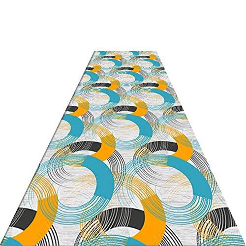XQKXHZ Alfombras De Pasillo, Larga Moderna Geometría Antideslizante Alfombra, Protector De Piso con Respaldo Antideslizante, para Pasillo/Cocina/Salón, Multi-Colored,140x500cm