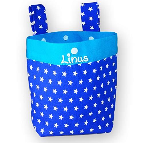 Sacoche de guidon pour enfant avec nom et inscription en anglais « Star »