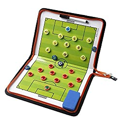 Amhii Football Soccer Magnetic Tactic Coach ClipBoard with Dry Erase Zipper and Marker Pen