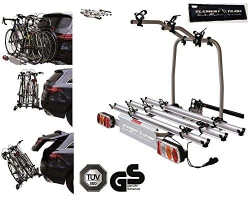 Fahrradträger Anhängerkupplung für 3 Fahrräder Easy Bike + ELEMENT TRADE Sticker