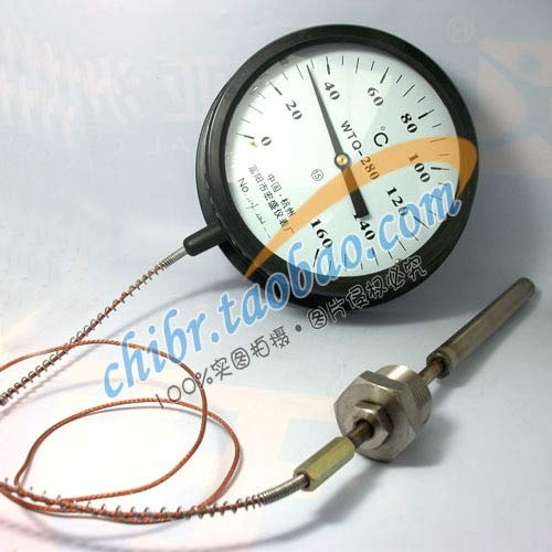 Tool Parts WTQ-280 pressure thermometer 0-160 1 m long stainless steel + stainless steel