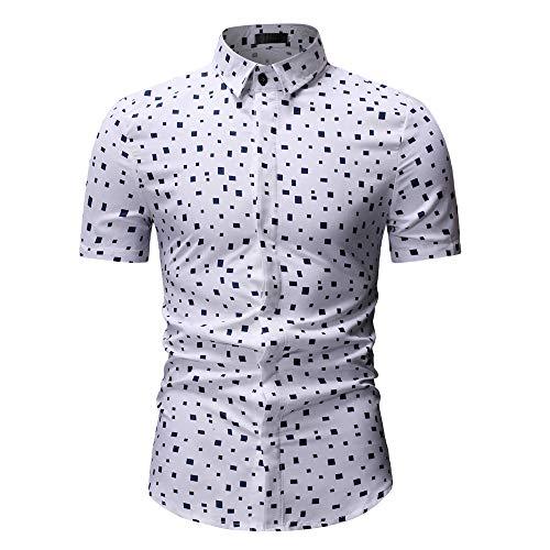 CICIYONER Polohemd Freizeithemd - Herren Sommer Freizeit Hemd Kurzarm Slim Fit Reise Hawaiihemd für Männer M-3XL