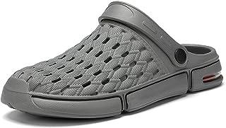 FDSVCSXV Unisex's Classic Clog, Slippers for Men Warm Mules Clogs Garden Shoes Winter Slipper Non-Slip Flip Flops,Gray,39