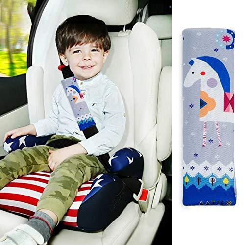 2 Stück Cartoon Gurtpolster für Kinderautositze Auto Sicherheitsgurt Polster Schulterpolster Schulterkissen Autositze – Comfort Gurtpolster für Kinder, Kleinkinder, Baby-Sicherheitskissen