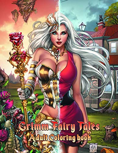 Grimm Fairy Tales Coloring Book: Perfect Gift Adults That Love Grimm Fairy Tales Adult Coloring Book With Over 50 Sexy Coloring Pages In ... And White. Great for Encouraging Creativity