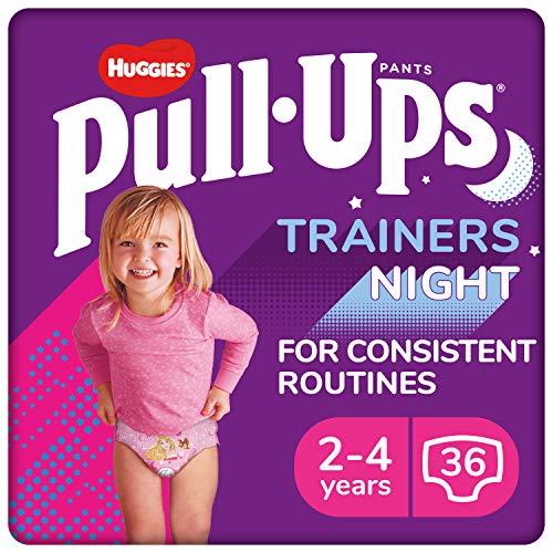 Huggies Pull-Ups Trainers Night, Potty Training Pants, Girls Nappy Pants...